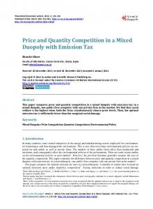 Price and Quantity Competition in a Mixed Duopoly with Emission Tax