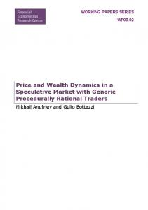 Price and Wealth Dynamics in a Speculative Market with ... - Core