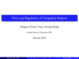 Price-cap Regulation of Congested Airports