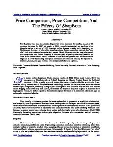 Price Comparison, Price Competition, And The ... - The Clute Institute