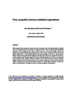 Price competition between subsidized organizations