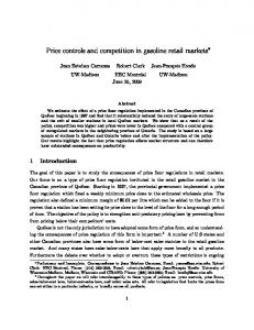 Price controls and competition in gasoline retail markets - NBER