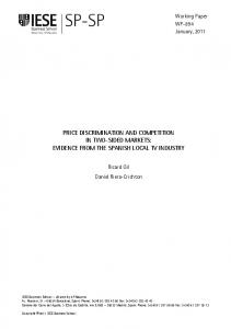 price discrimination and competition in two-sided markets - CORE