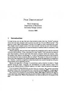 Price discrimination - UCL Discovery