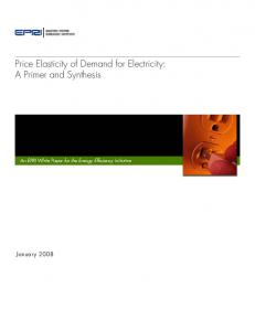 Price Elasticity of Demand for Electricity: A Primer and
