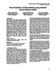 Price Prediction of Share Market using Artificial Neural ... - CiteSeerX