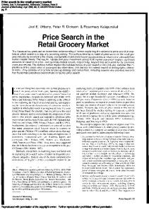 Price search in the retail grocery market