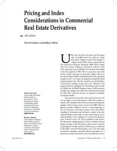 Pricing and Index Considerations in Commercial Real Estate Derivatives