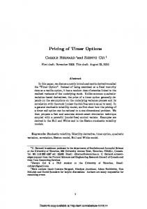 Pricing of Timer Options - SSRN papers