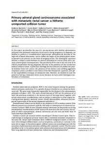 Primary adrenal gland carcinosarcoma associated ...
