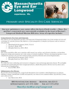 primary and Specialty Eye Care Services