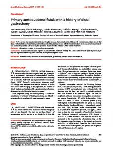 Primary aortoduodenal fistula with a history of ... - Wiley Online Library