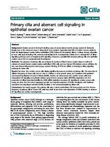 Primary cilia and aberrant cell signaling in epithelial ovarian cancer ...