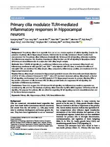 Primary cilia modulate TLR4-mediated inflammatory responses in ...