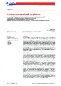 Primary cutaneous Bcell lymphomas - Wiley Online Library