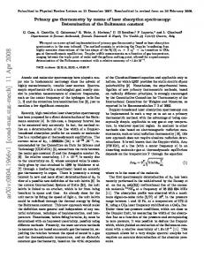 Primary gas thermometry by means of laser-absorption spectroscopy ...