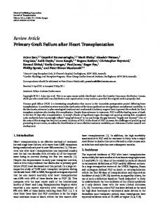 Primary Graft Failure after Heart Transplantation
