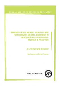 primary-level mental health care for common mental disorder in ...