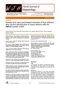 Primary liver injury and delayed resolution of liver ... - Semantic Scholar