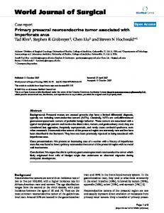 Primary presacral neuroendocrine tumor associated with imperforate ...