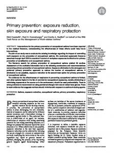 Primary prevention: exposure reduction, skin exposure and respiratory ...