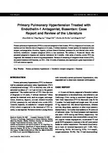 Primary Pulmonary Hypertension Treated with