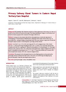 Primary Salivary Gland Tumors in Eastern Nepal Tertiary Care Hospital