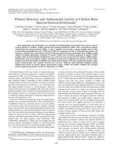 Primary Structure and Antibacterial Activity of Chicken Bone Marrow ...