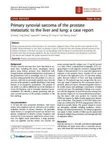 Primary synovial sarcoma of the prostate