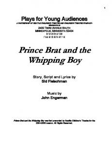 Prince Brat and the Whipping Boy - Plays for Young Audiences