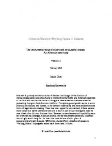 Princeton/Stanford Working Papers in Classics - Princeton University