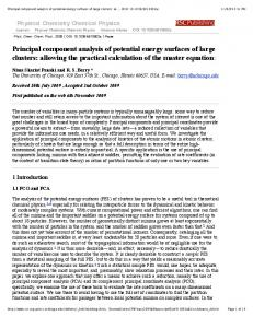 Principal component analysis of potential energy surfaces - Wales Group