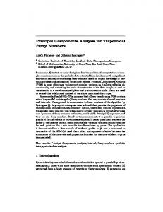 Principal Components Analysis for Trapezoidal Fuzzy Numbers