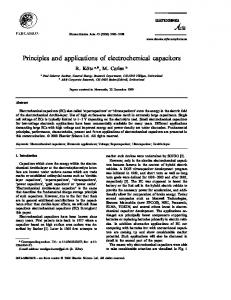 Principles and applications of electrochemical ...