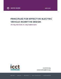 Principles for effective electric vehicle incentive design