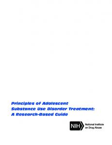Principles of Adolescent Substance Use Disorder Treatment ...