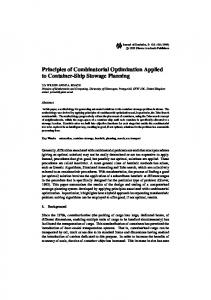 Principles of Combinatorial Optimization Applied to Container-Ship ...