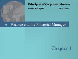 Principles of Corporate Finance - Eewee