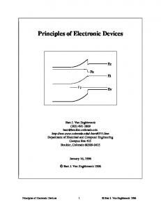 Principles of Electronic Devices