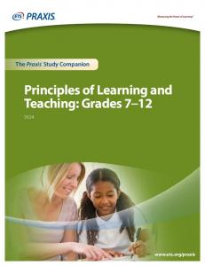 P The Praxis Ii Test Principles Of Learning And Teaching