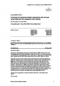 Principles of membrane protein interactions with ... - BioMedSearch