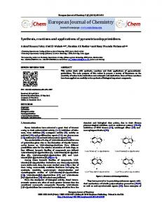 Print this article - European Journal of Chemistry