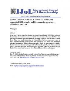 Print this article - International Journal of Librarianship