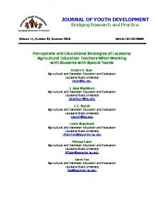 Print this article - Journal of Youth Development
