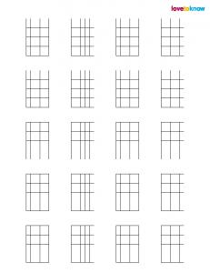 Printable Blank Guitar Chords
