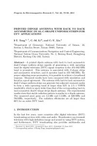 PRINTED DIPOLE ANTENNA WITH BACK TO