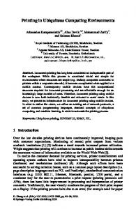 Printing in Ubiquitous Computing Environments - Springer Link