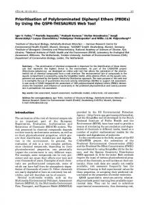 Prioritisation of Polybrominated Diphenyl Ethers ... - Semantic Scholar