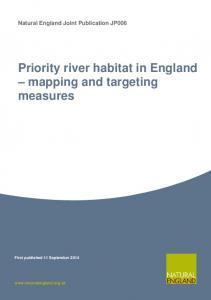 Priority river habitat in England - Natural England publications