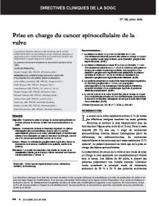 Prise en charge du cancer spinocellulaire de la vulve - SOGC